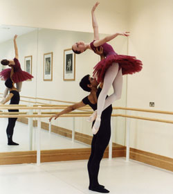 Rehearsals at The Royal Ballet School, London